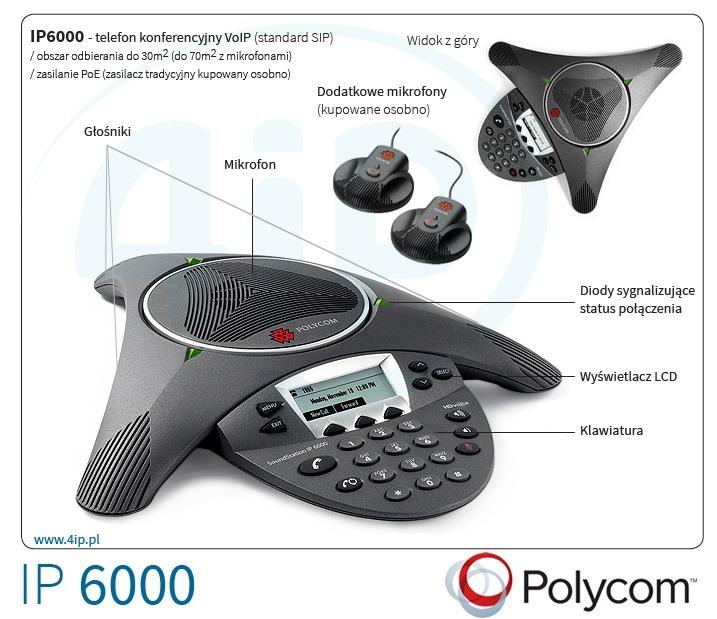 Polycom SoundStation IP6000 PoE — nowoczesny telefon konferencyjny